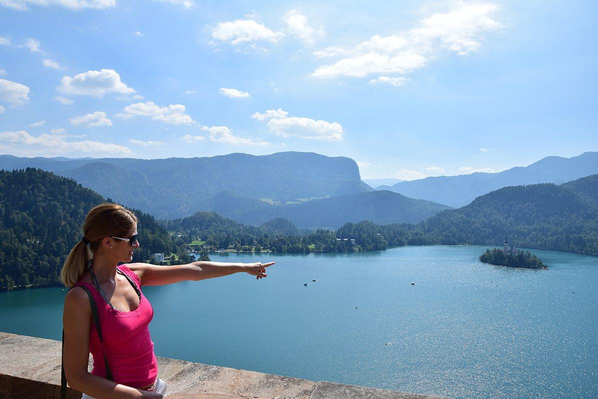 Výhľad na ostrov Bled