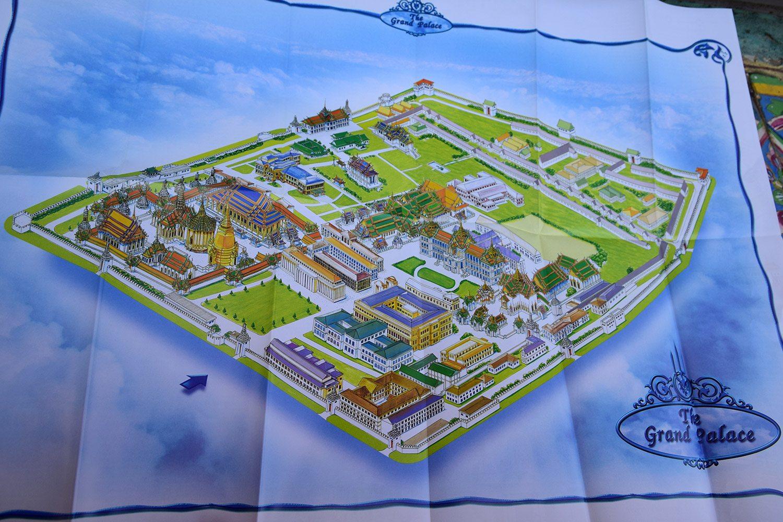 bangkok grand palace mapa