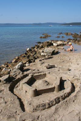 chorvátske piesočné pláže