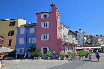 farebné domčeky v Piran