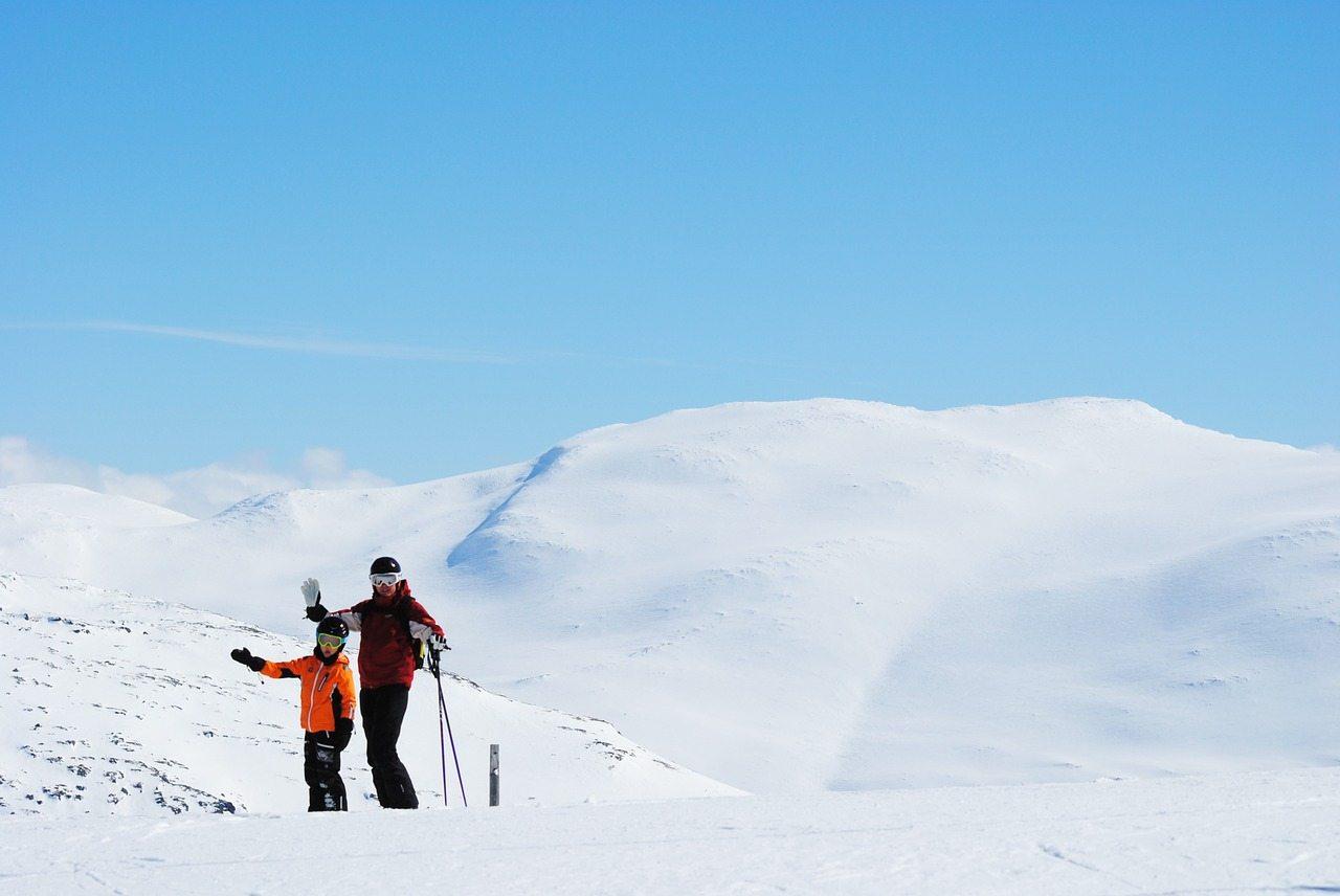 januárová lyžovačka - švédsko