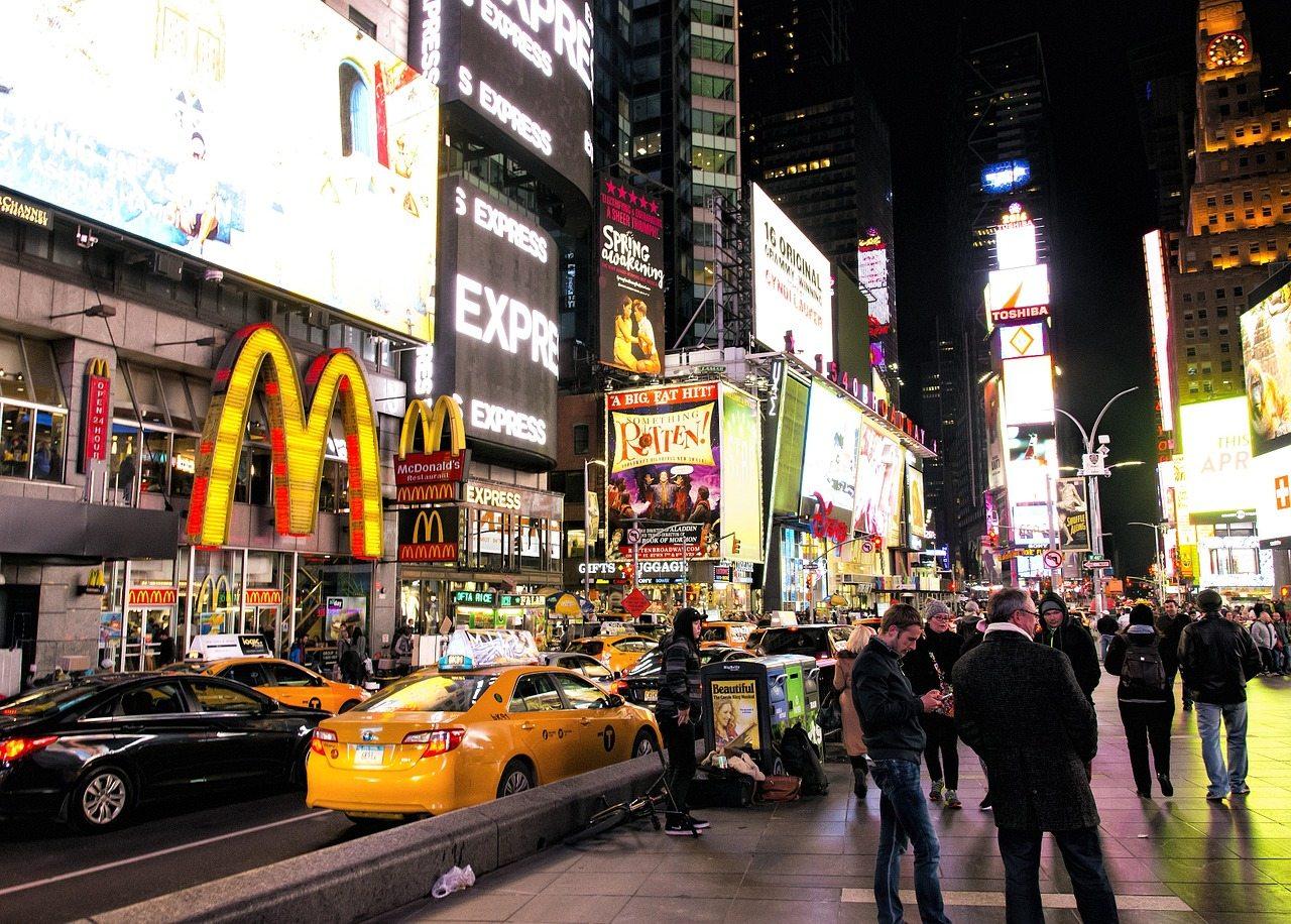 nákupy NYC, times square