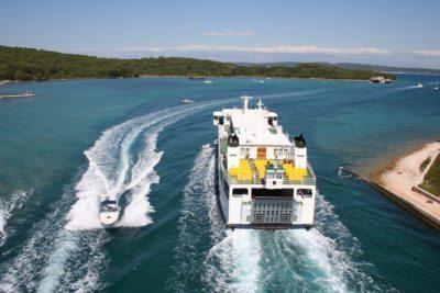 trajekt na ostrovy v chorvátsku
