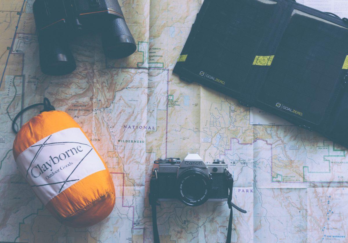 balenie na dovolenku - mapa