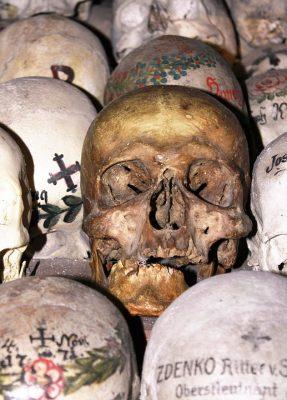 lebky v hallstatte - dom kostí