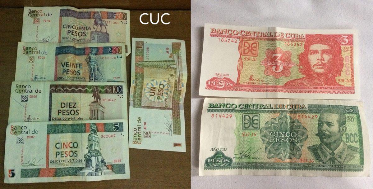 kubánska mena - CUP a CUC