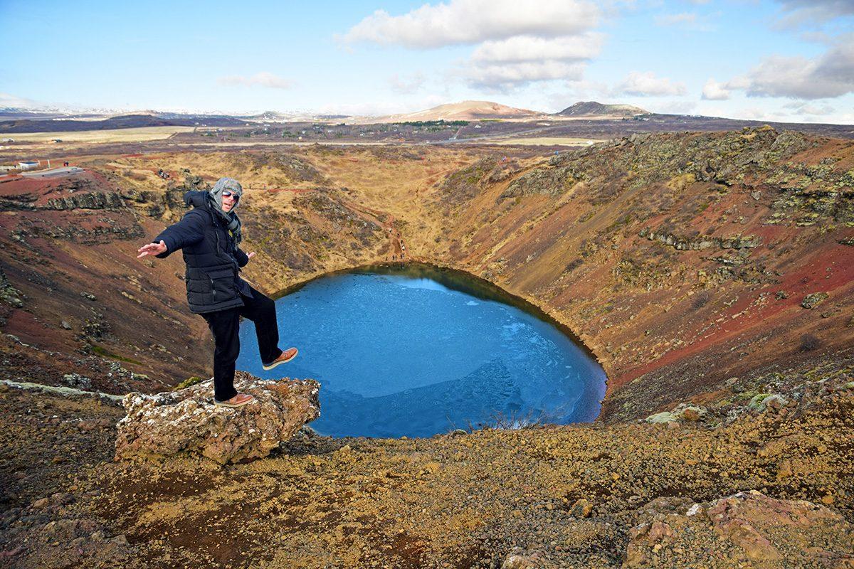 vulkanický kráter Kerid