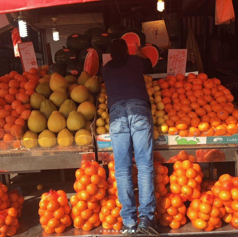 ovocie na trhu - tel aviv