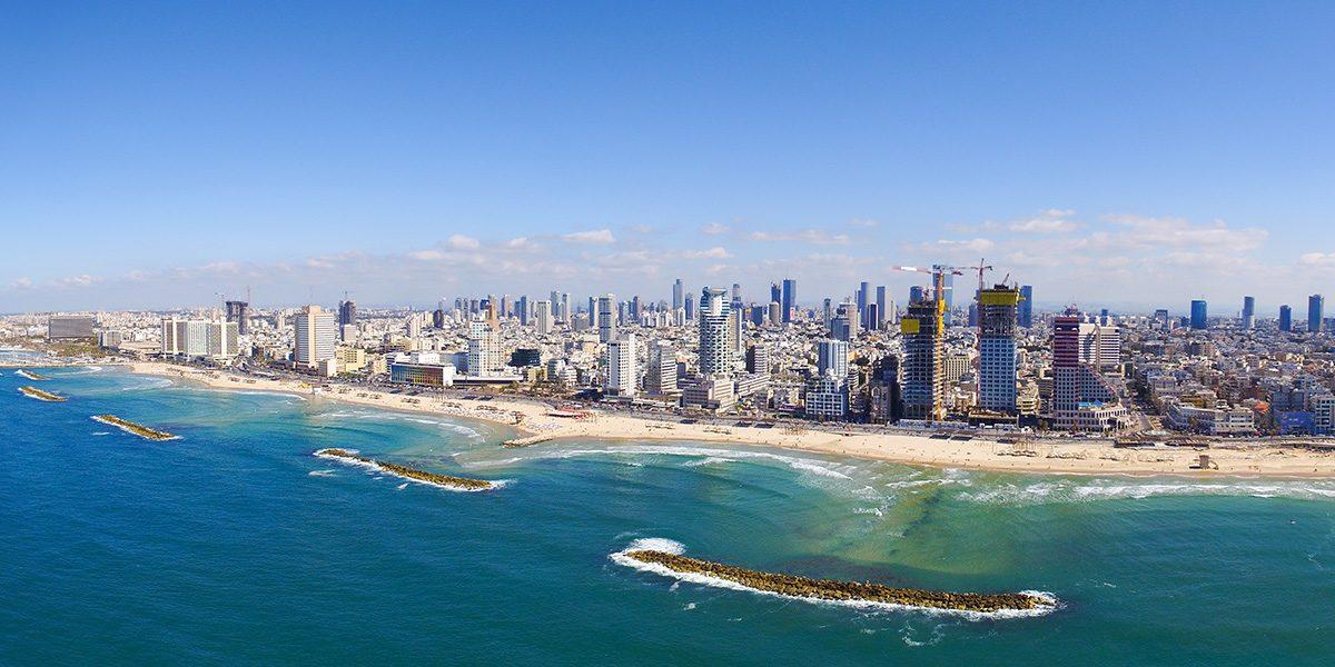 pobrežie a pláže Tel Aviv