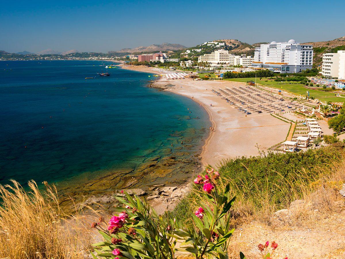 Faliraki pláž - Rhodos