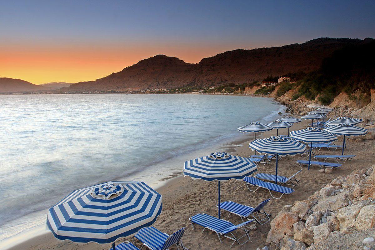 pefkos - pláže rhodos