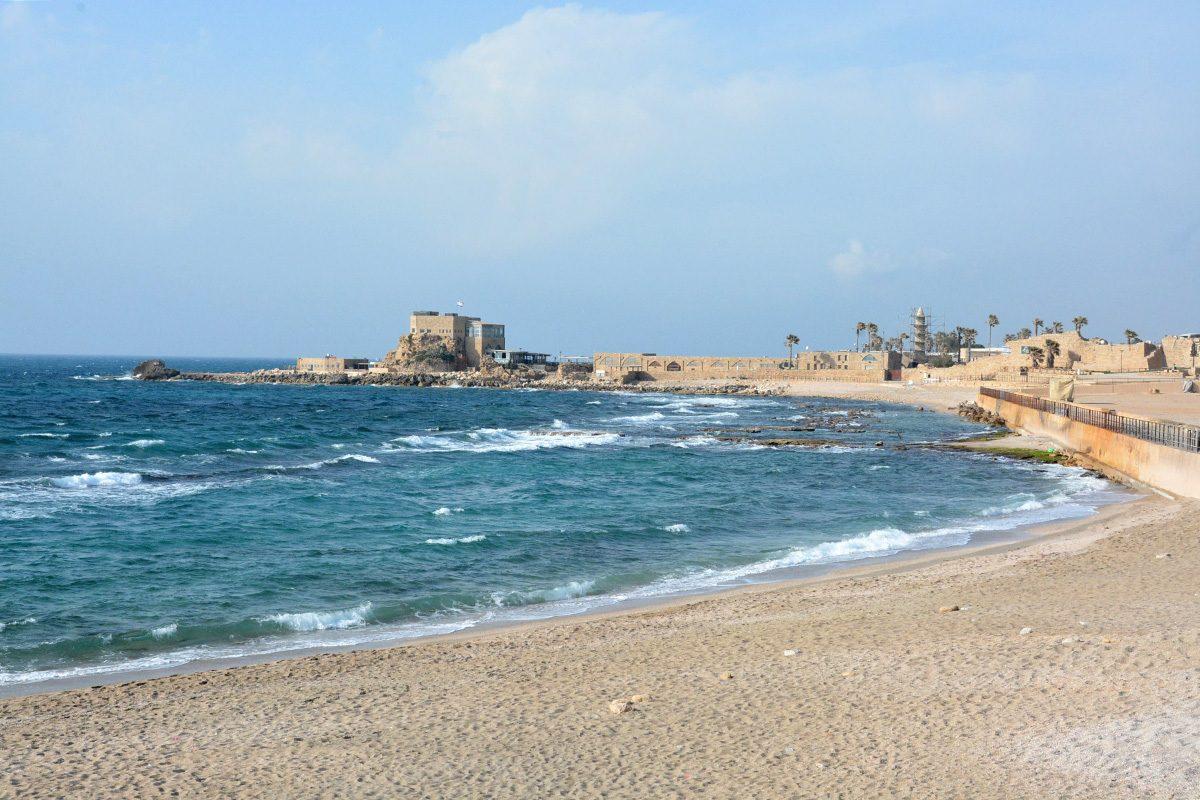 pláž Caesaria - Izrael