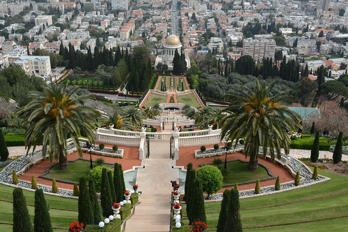 Bahájské záhrady Haifa