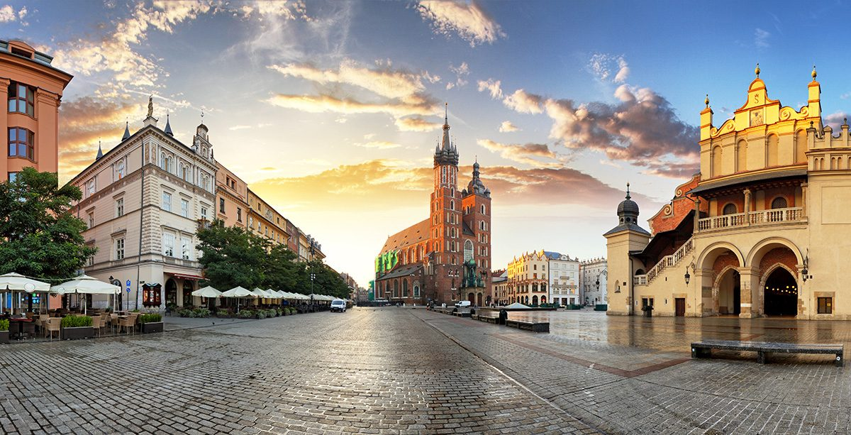 panoráma mesta Krakow