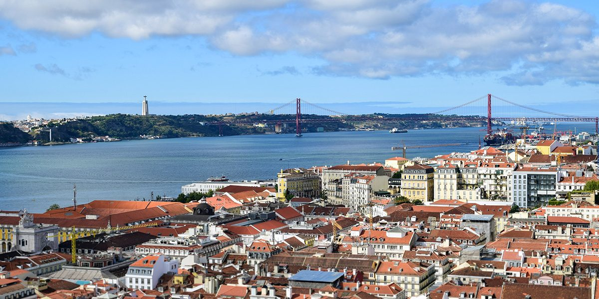 panoráma Lisabonu z hradu