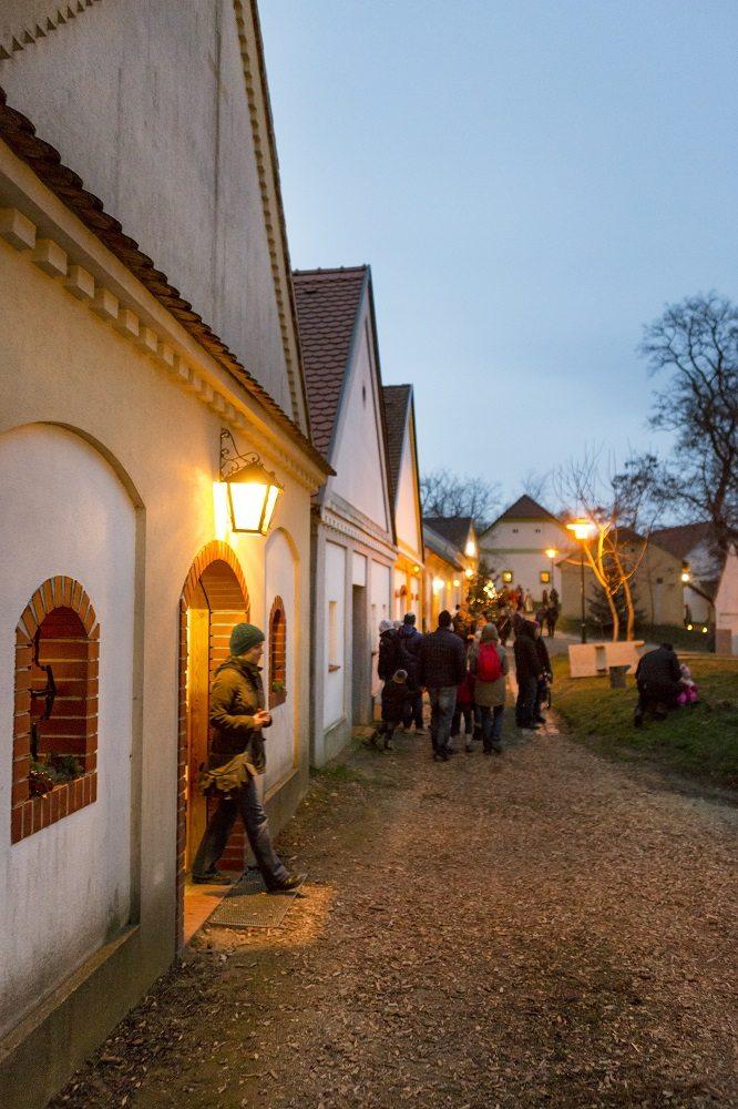 Advent v Rakúsku - vínne uličky