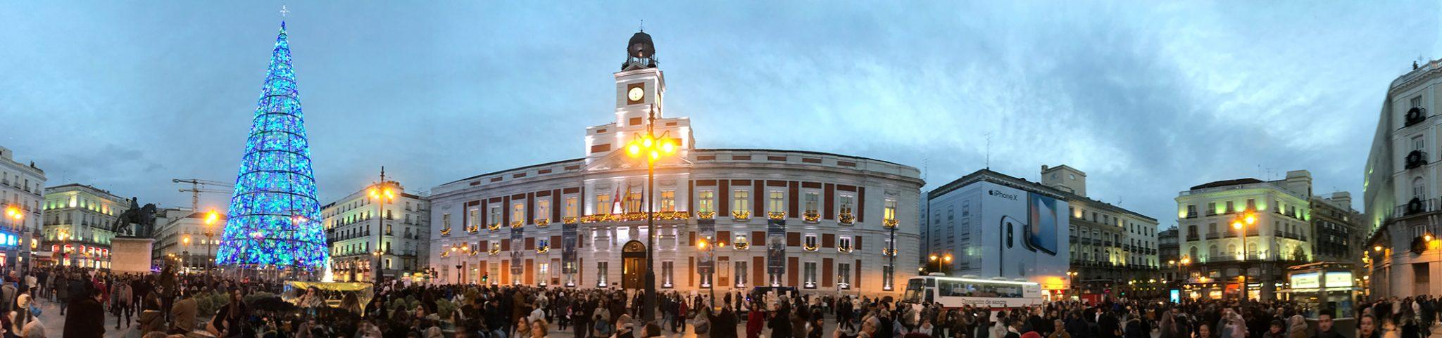 Vianočné trhy v Madride - Puerta del sol