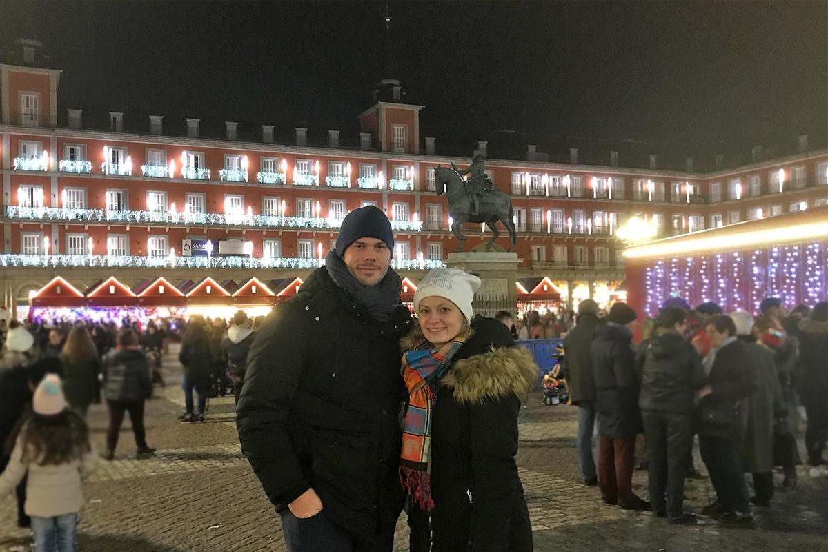 Vianočné trhy v Madride - plaza mayor