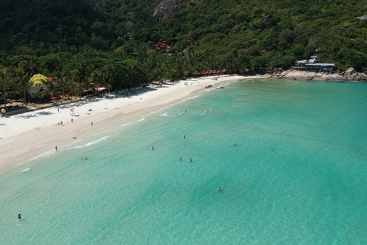 haad rin pláž Ko Phangan