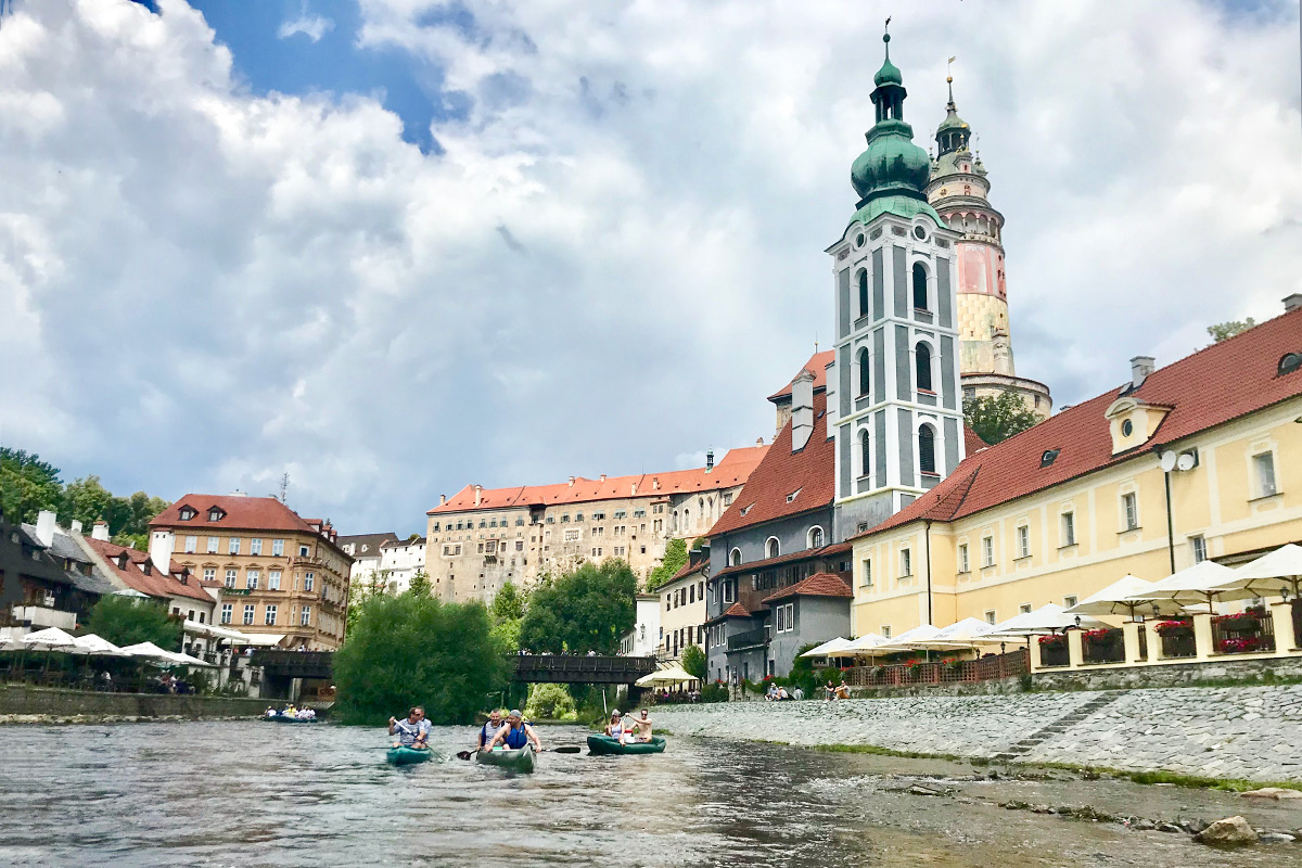 splav Vltavy - Český Krumlov
