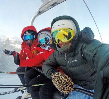 na lyžovačku