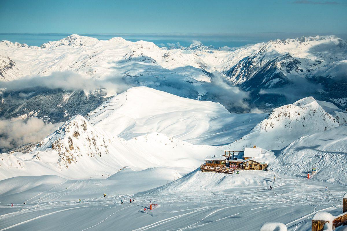 lyžiarske stredisko La Plagne