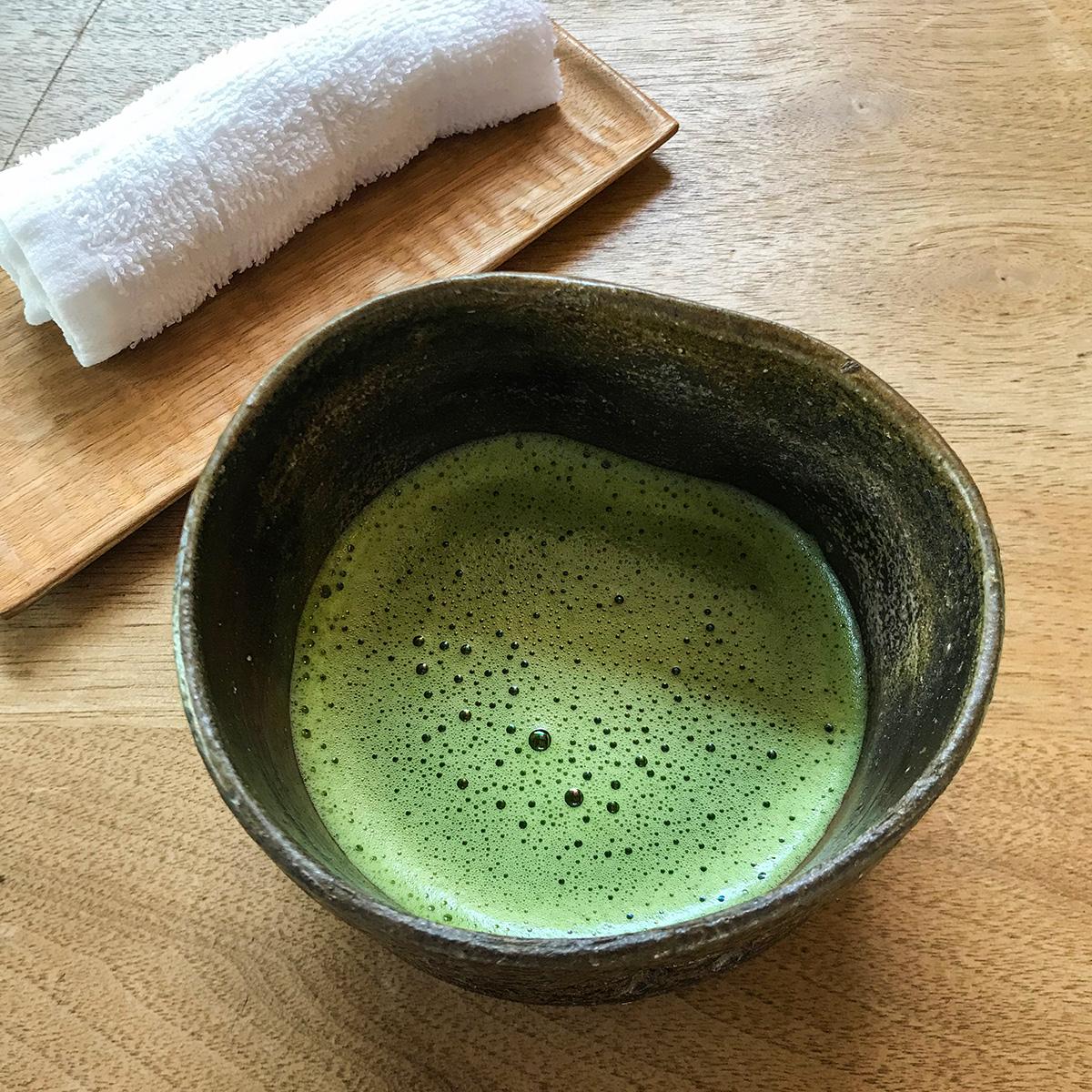 japonský matcha čaj