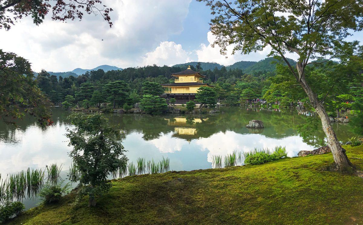 chrám zlatý pavilón Kjóto