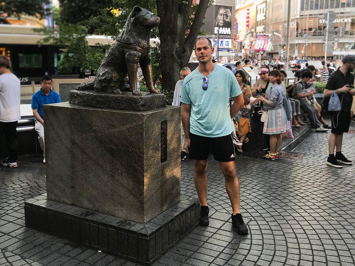 Hachiko socha - Tokyo