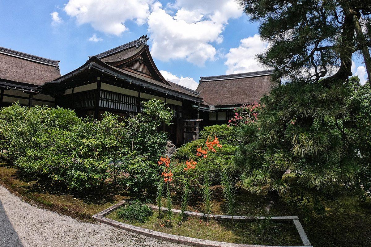 záhrady cisársky palác v Kjóte