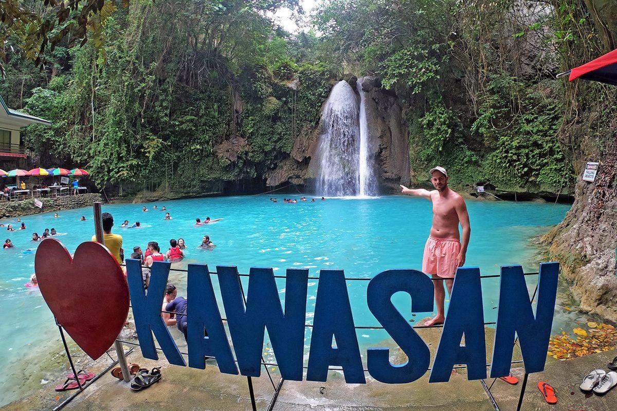 Vodopády Kawasan Falls