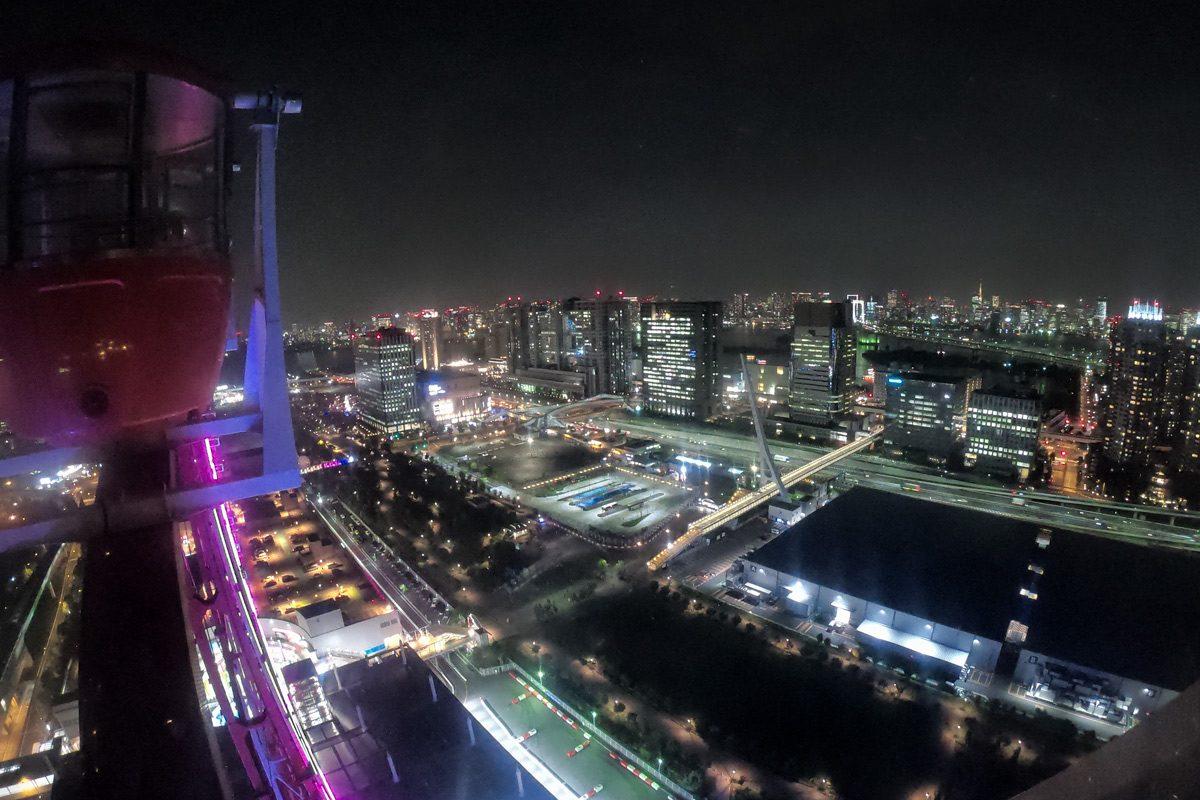 Výhľad na Tokyo z kolesa