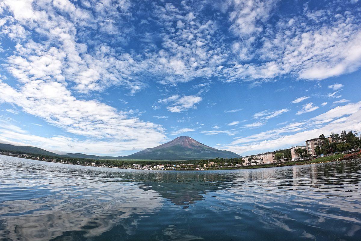 výhľad na Fudžisan - od jazera Yamanaka