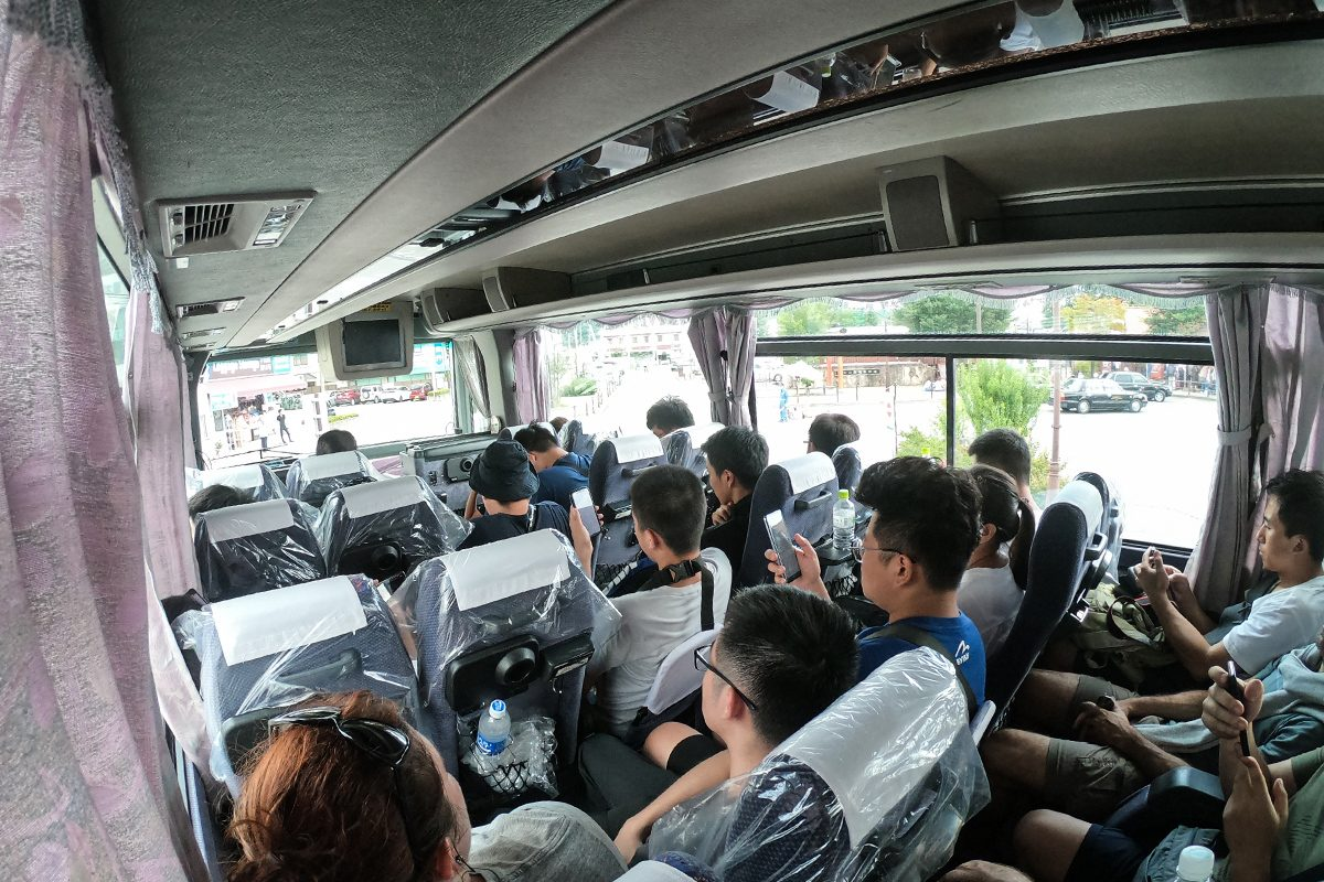 plný autobus na Fuji