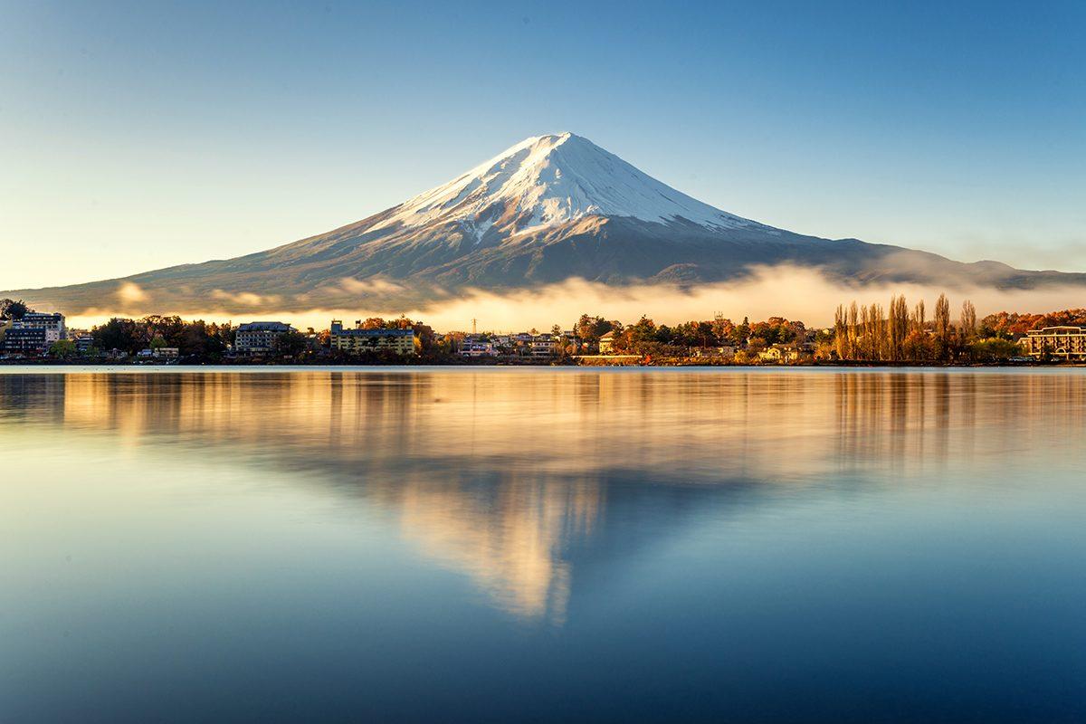 Výhľad na sopku Fuji, Japonsko